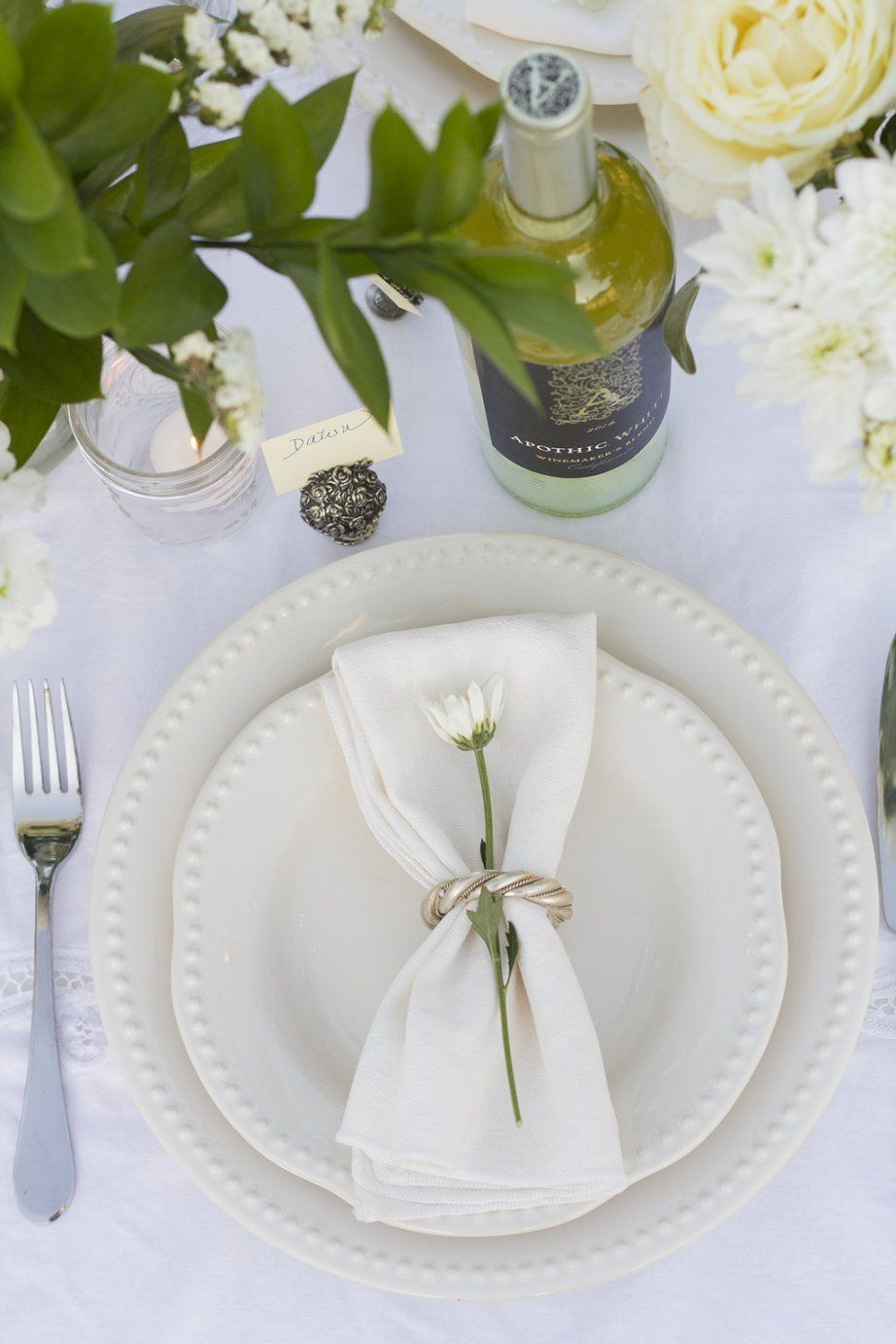 Diner en Blanc Place Setting Table Decor   The Rose Table