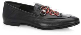 c51ebd2563c Gucci Brixton Snake Foldable Leather Loafers