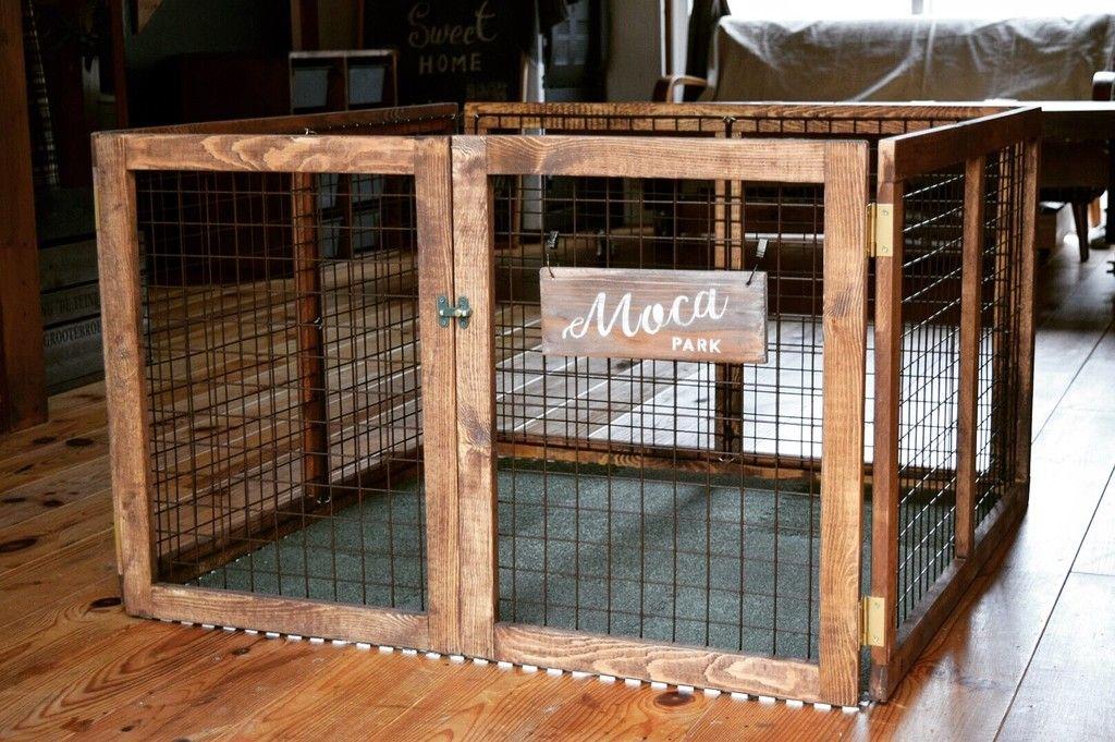100均のアイテム活用で ペットの遊び場をつくったよ 小型犬やうさぎのサークルプレイルーム ウサギ用ハウス 犬のケージアイデア ウサギ小屋