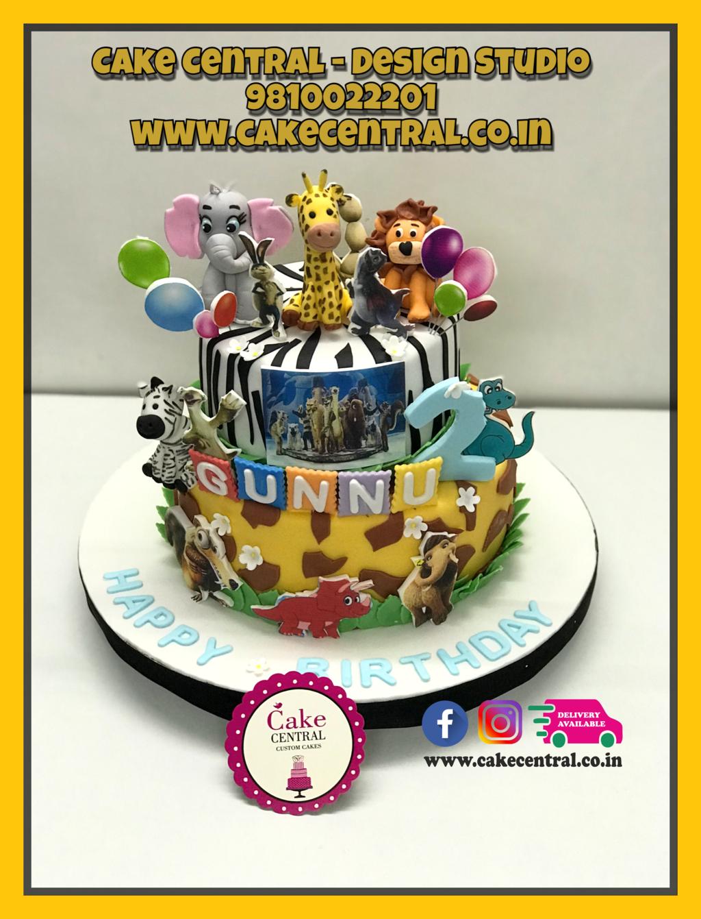 Jungle Cake By Cake Central Premier Cake Design Studio New Delhi