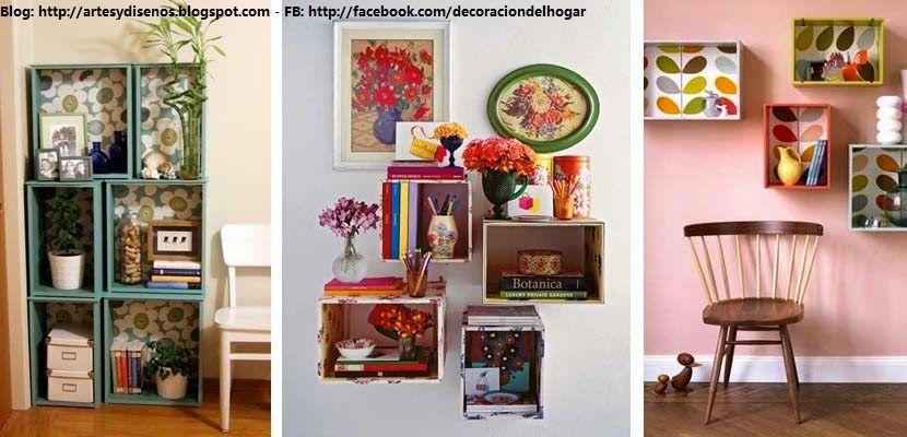 IDEAS PARA DECORAR CON CAJAS DE MADERA by artesydisenosblogspot