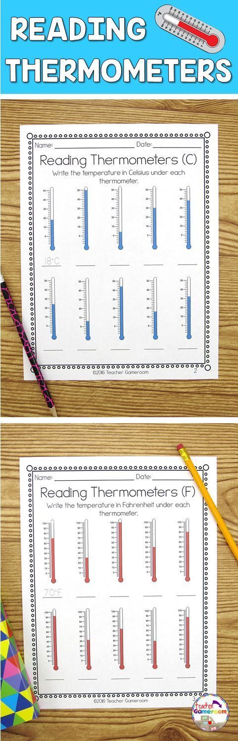 Reading Thermometers Worksheet Weather, Math and Homeschool - celsius to fahrenheit charts