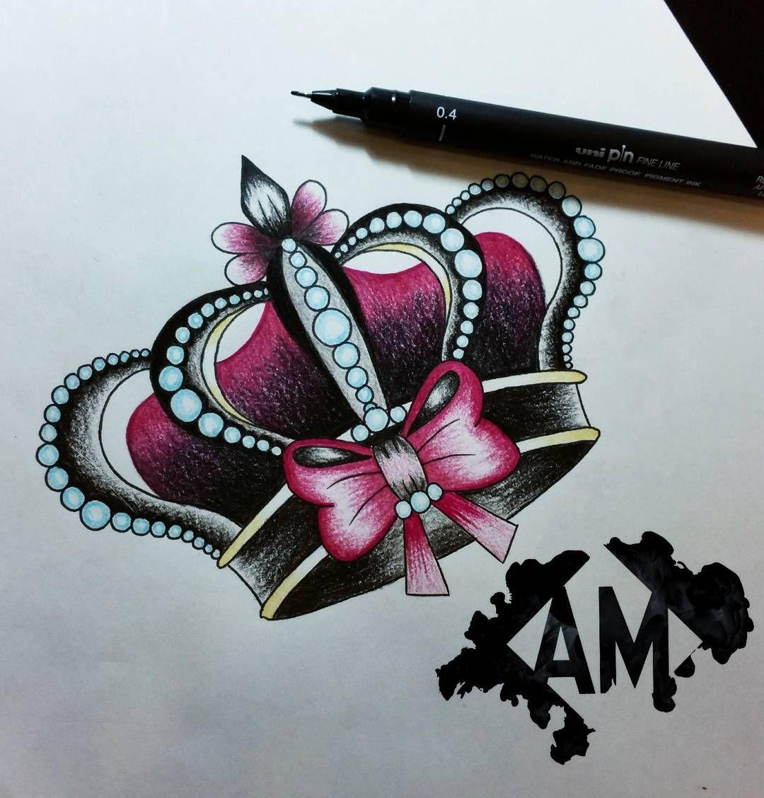 qui n se siente una princesa si lo quieres para tattoo m ndame un rh pinterest com girly crown tattoos gallery Queen Crown Tattoos