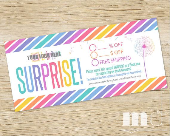 LuLaRoe Surprise Gift Certificate, LuLa Roe Surprise Coupon - business gift certificate template free