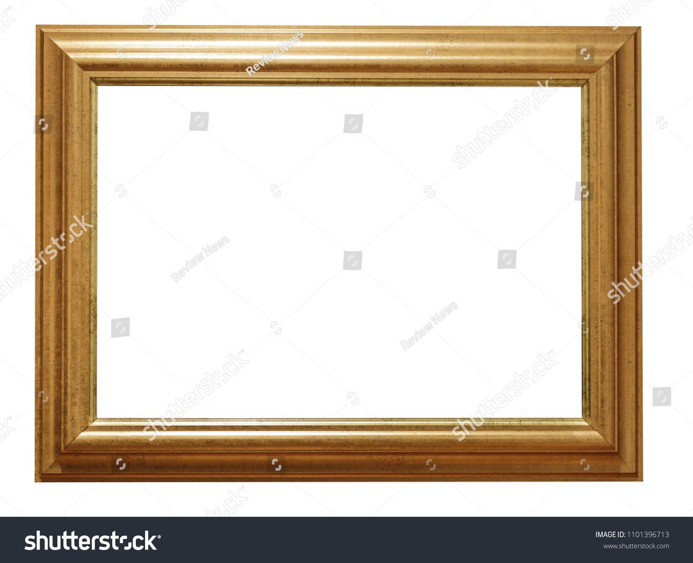 Golden Vintage Frame Isolated On White Backgroundframe Vintage Golden Background Vintage Frames Frame Golden Background