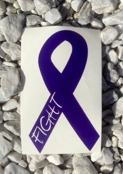 Die Cut Vinyl Window Decal//Sticker for Car//Truck Panceatic Cancer Ribbon Nov