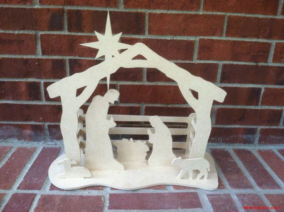 Nativity Scene, Manger Scene, 19 inches tall, FREE SHIPPING