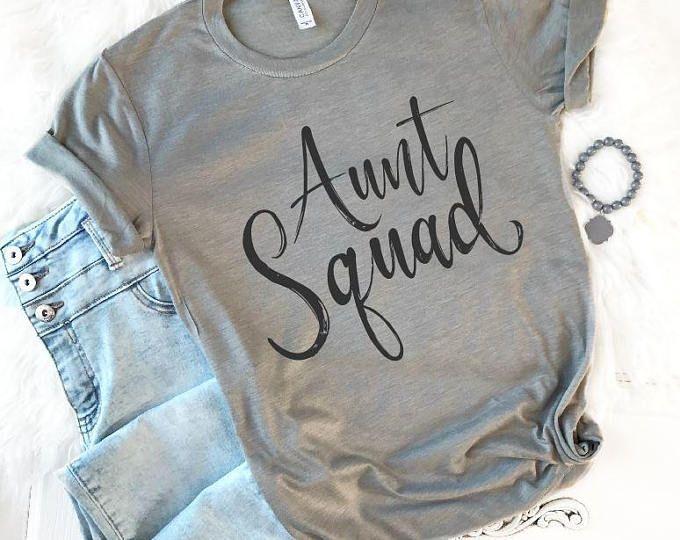Aunt Tank Top, Auntie Shirt, Aunt Shirt, Aunt Reveal Shirt, Aunt Gift, Auntie Gift, Aunt Squad, New Aunt, Best Aunt Tee, Cool Aunt Tank
