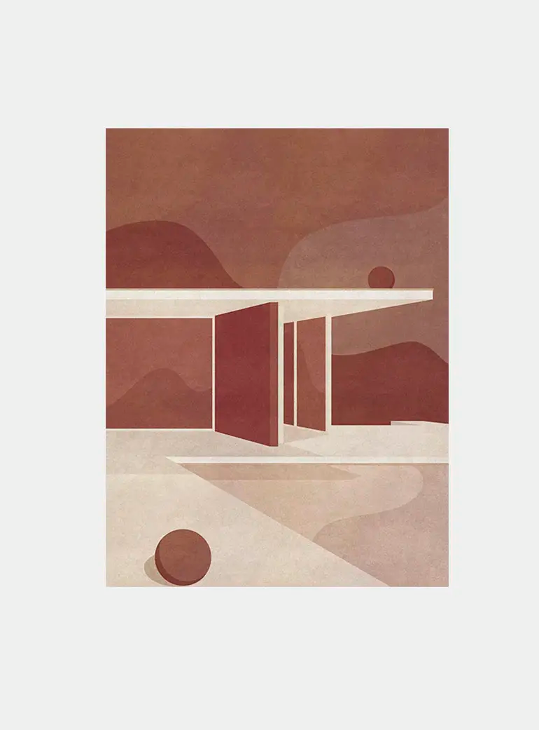 The Barcelona Pavilion, Part I Print