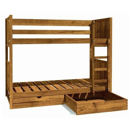 Litera de madera maciza con cajones inferiores 28057 | Literas de ...