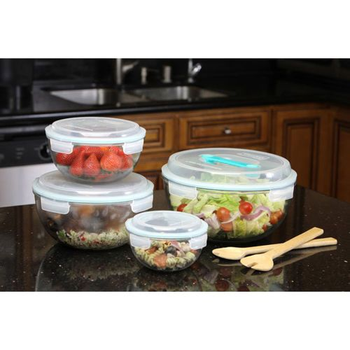 Glasslock Mixing Bowl 8 Piece Assortment Set Currently 49 99 At