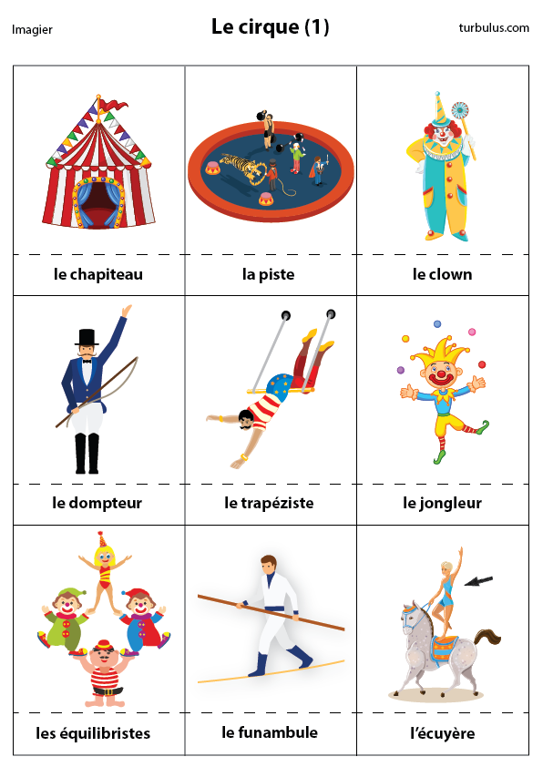 Imagier Le Cirque Chapiteau Piste Clown Dompteur Trapeziste