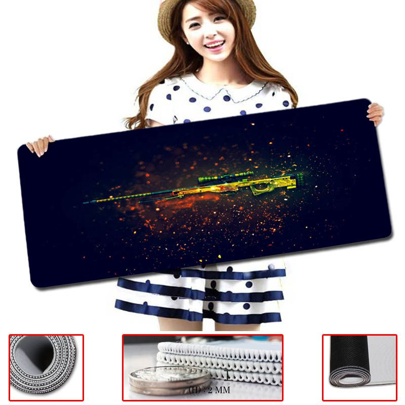 2017 Real Alfombrilla Raton New Arrival Rubber Mice Mat Pc Computer Laptop Cs Go Counter Strike Gaming Mouse Pad Play Mousepad
