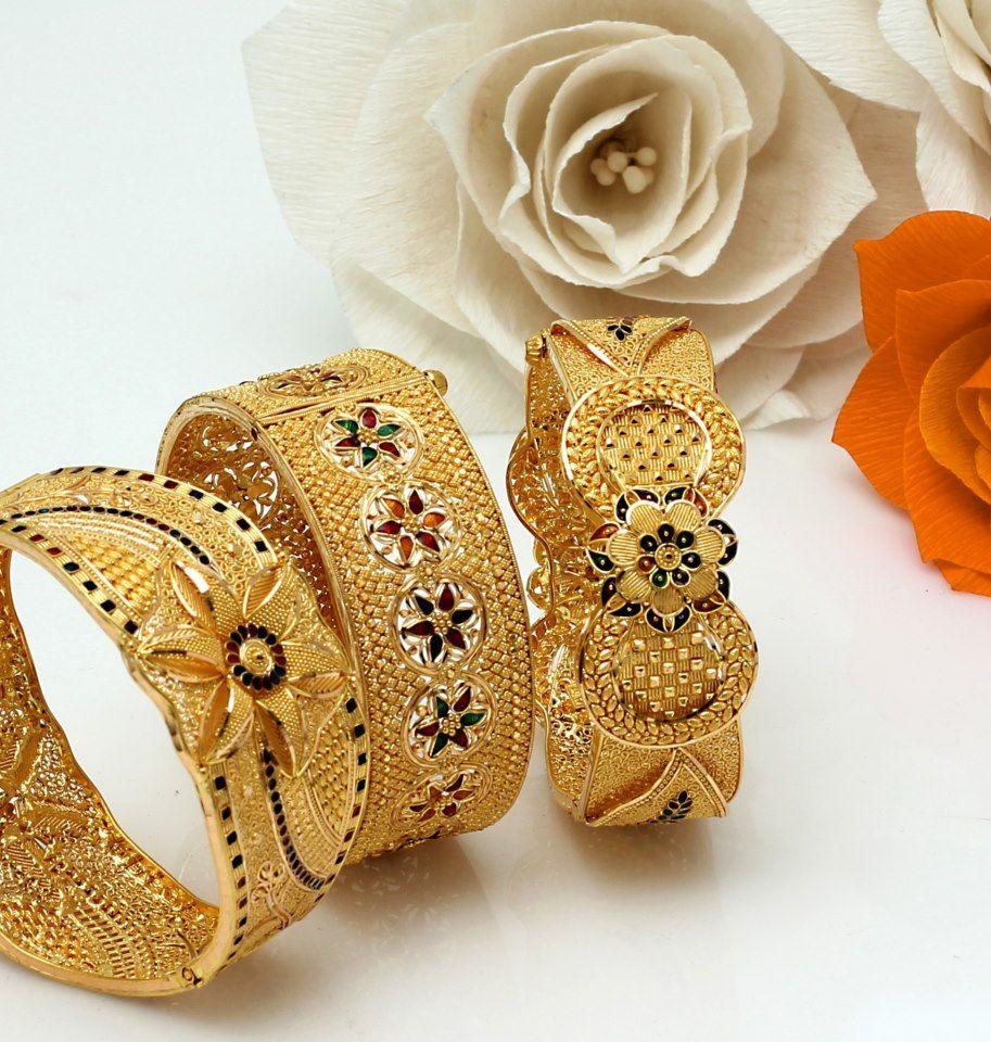 Golden Kadas for Diwali!!! | gold jewelry | Pinterest | Diwali ...