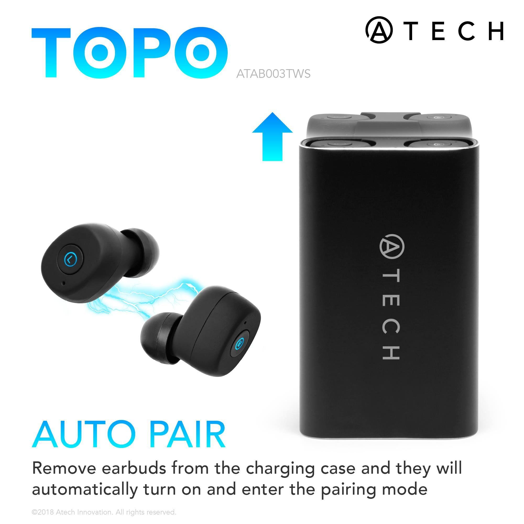 34991e626d2 Topo - True Wireless Earbuds BT 5.0 Sports | EARBUDS | Wireless earbuds,  Sports, Audio