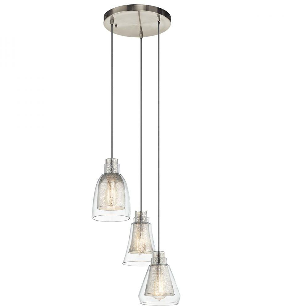 Evie Contemporary Brushed Nickel