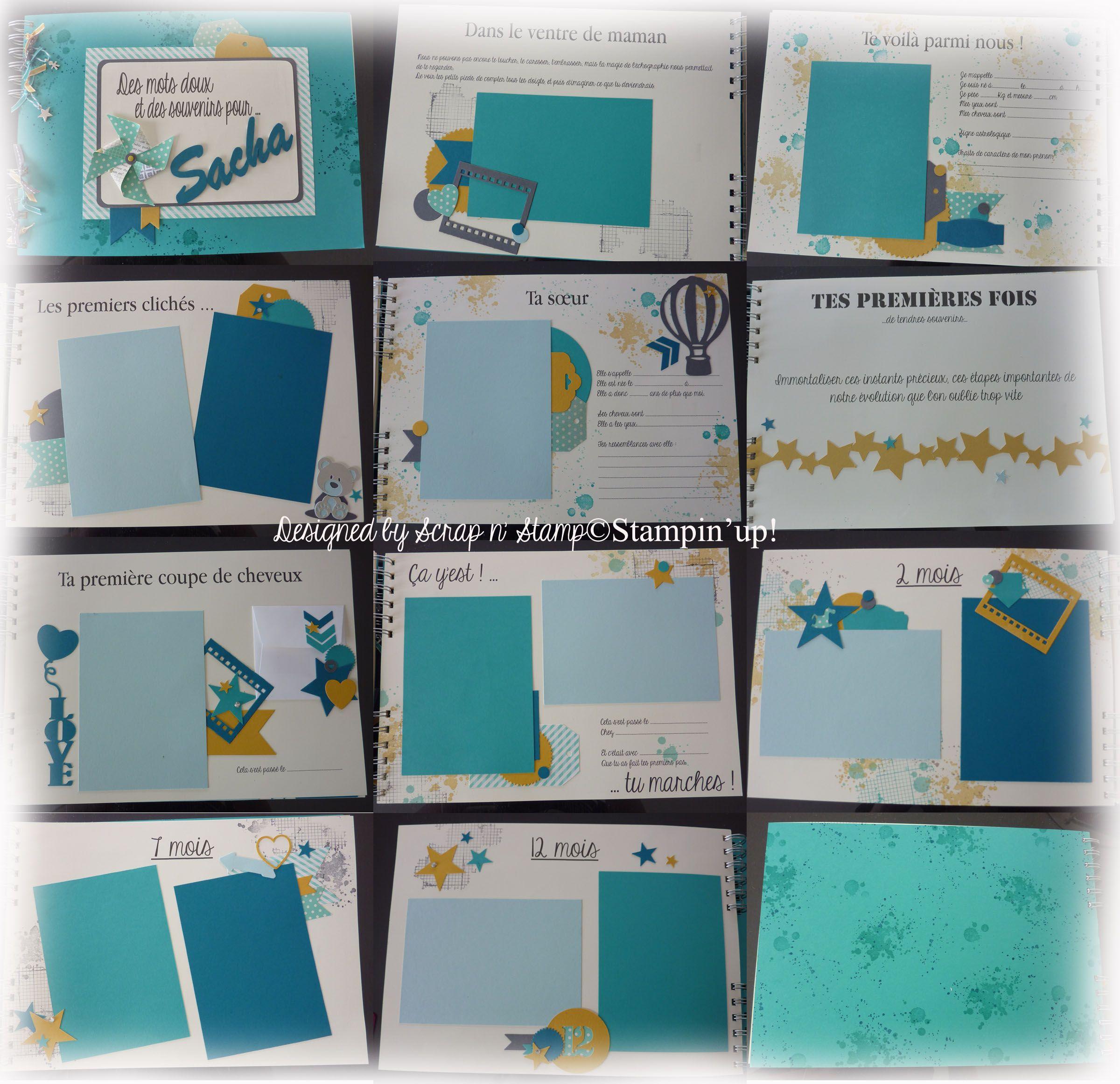 livre de naissance a4 paysage cama eu de bleu avec une touche de jaune pour donner du pep 39 s. Black Bedroom Furniture Sets. Home Design Ideas