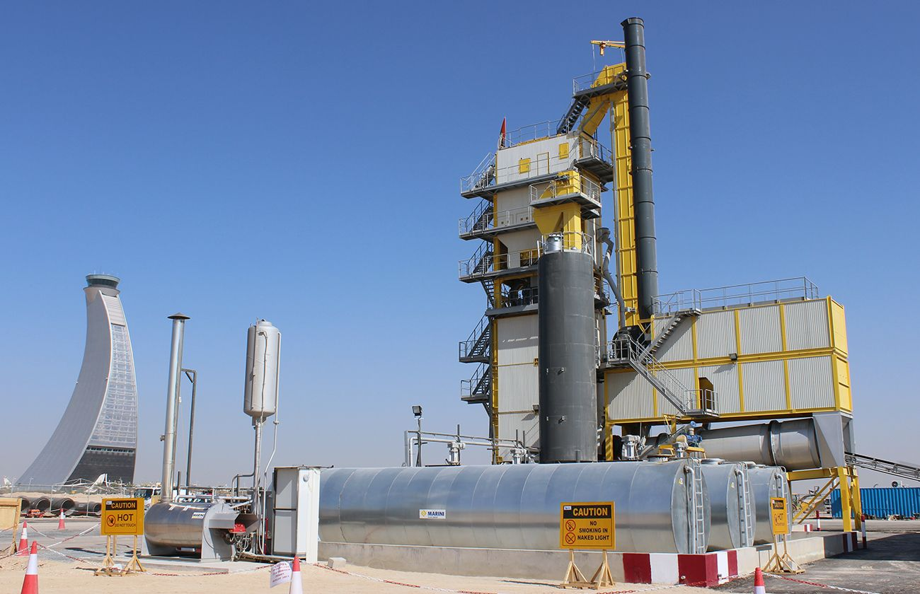 MARINI plant for airport pavement in Abu Dabhi