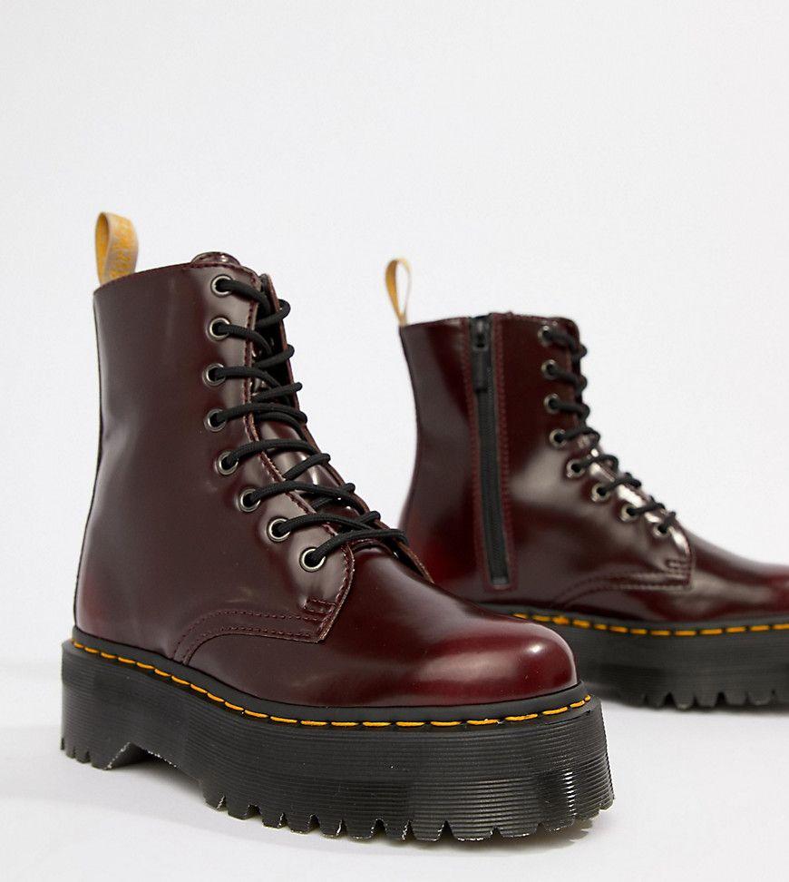 0c6f29ea38f257 Dr Martens - Cherry Jadon - Exklusive Stiefel - Rot Jetzt bestellen unter   https