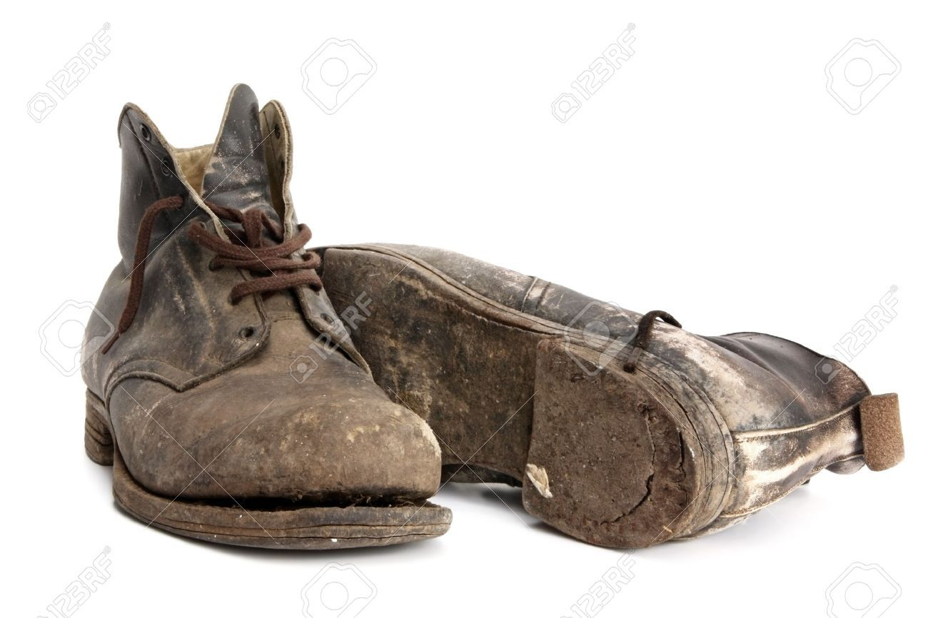 4e01a2adc35 Worn-out old work boots
