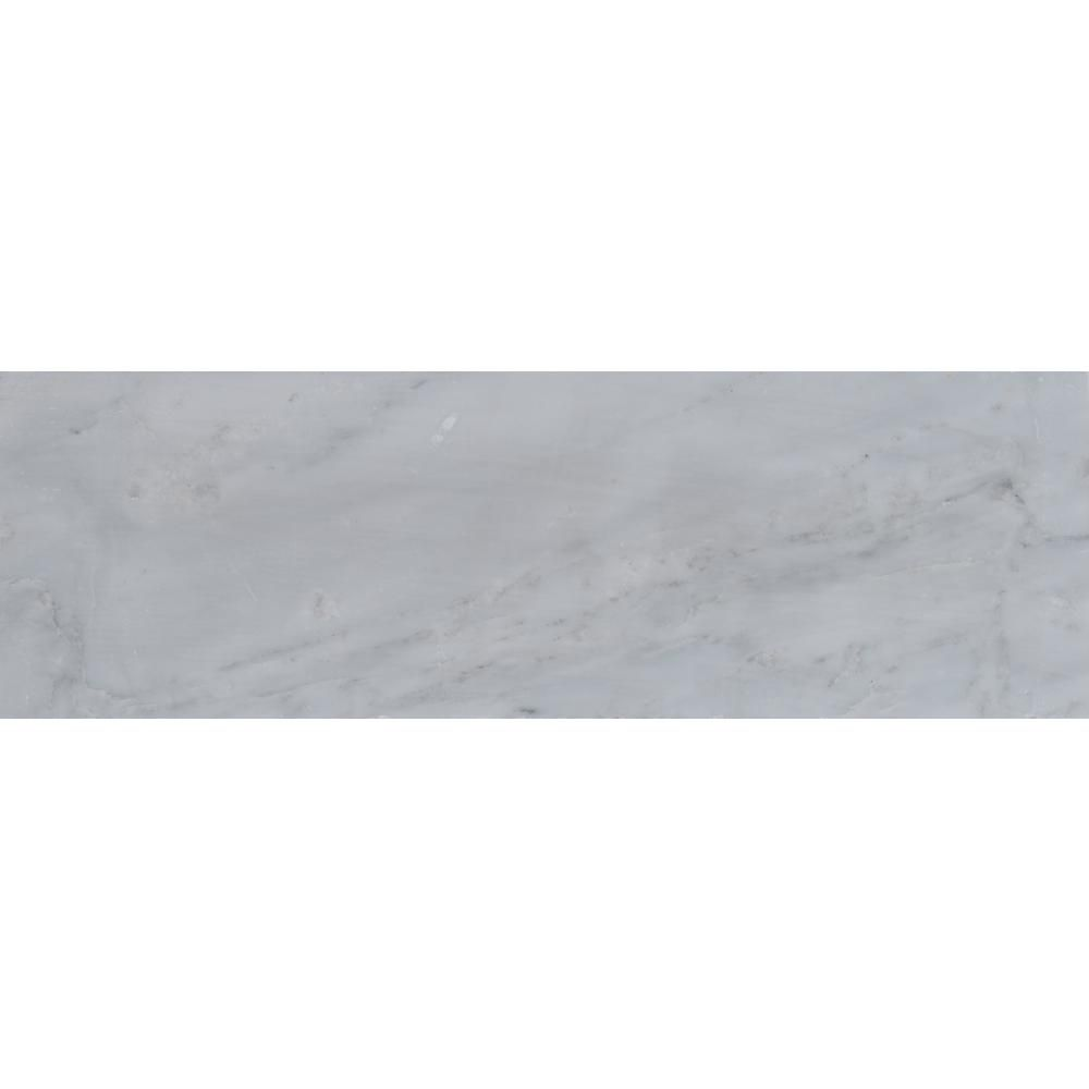 MS International Greecian White 4 in. x 12 in. Polished Marble ...