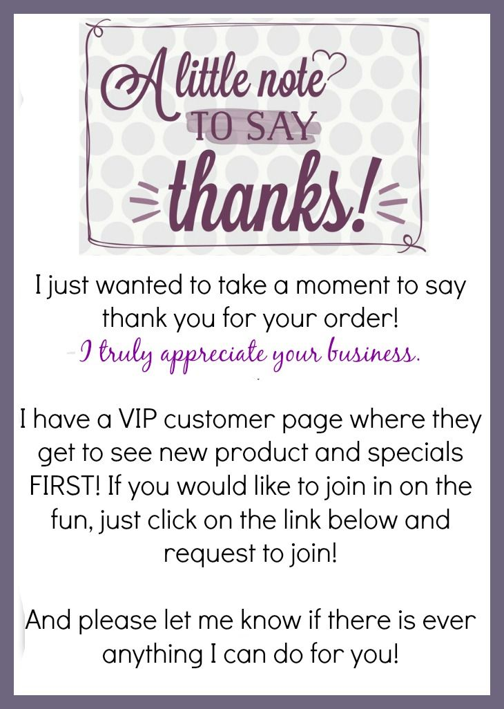 Donu0027t Forget to Say Thank You to Your Thirty-One Customers! Vip - fund raiser thank you letter