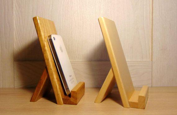 En bois bureau mount support pour portable par handmadestudioua