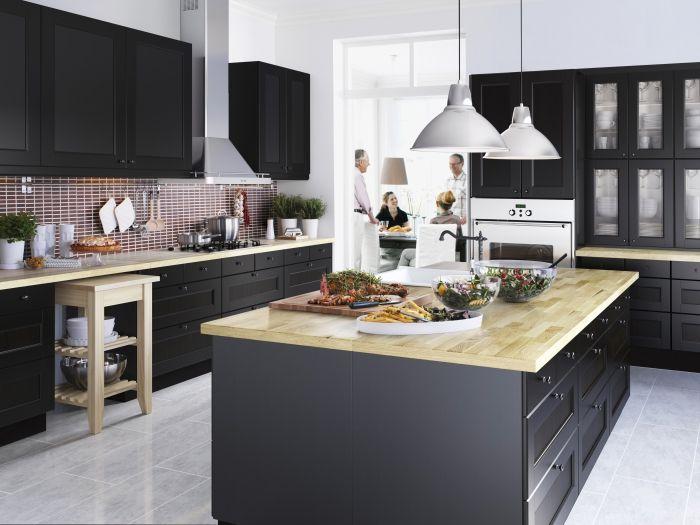 Keuken Kookeiland Zwart : Metod keuken ikea metod keuken kookeiland zwart keuken