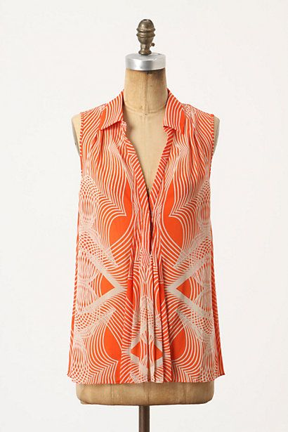 Pleated Optic Blouse #anthropologie