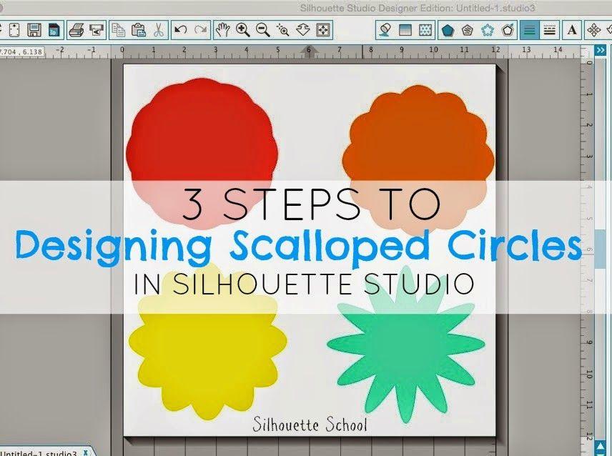 Que hacen un círculo festoneado o Flor en silueta Estudio (Tutorial Paso 3)