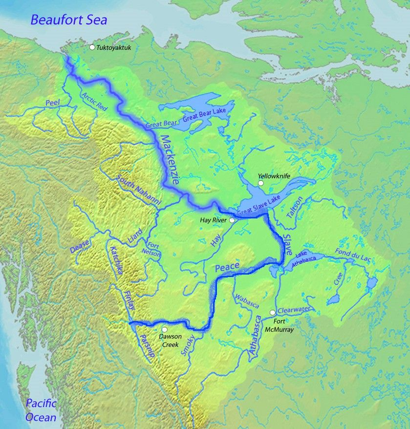 Mackenzie river map maps pinterest mackenzie river and rivers mackenzie river map publicscrutiny Choice Image