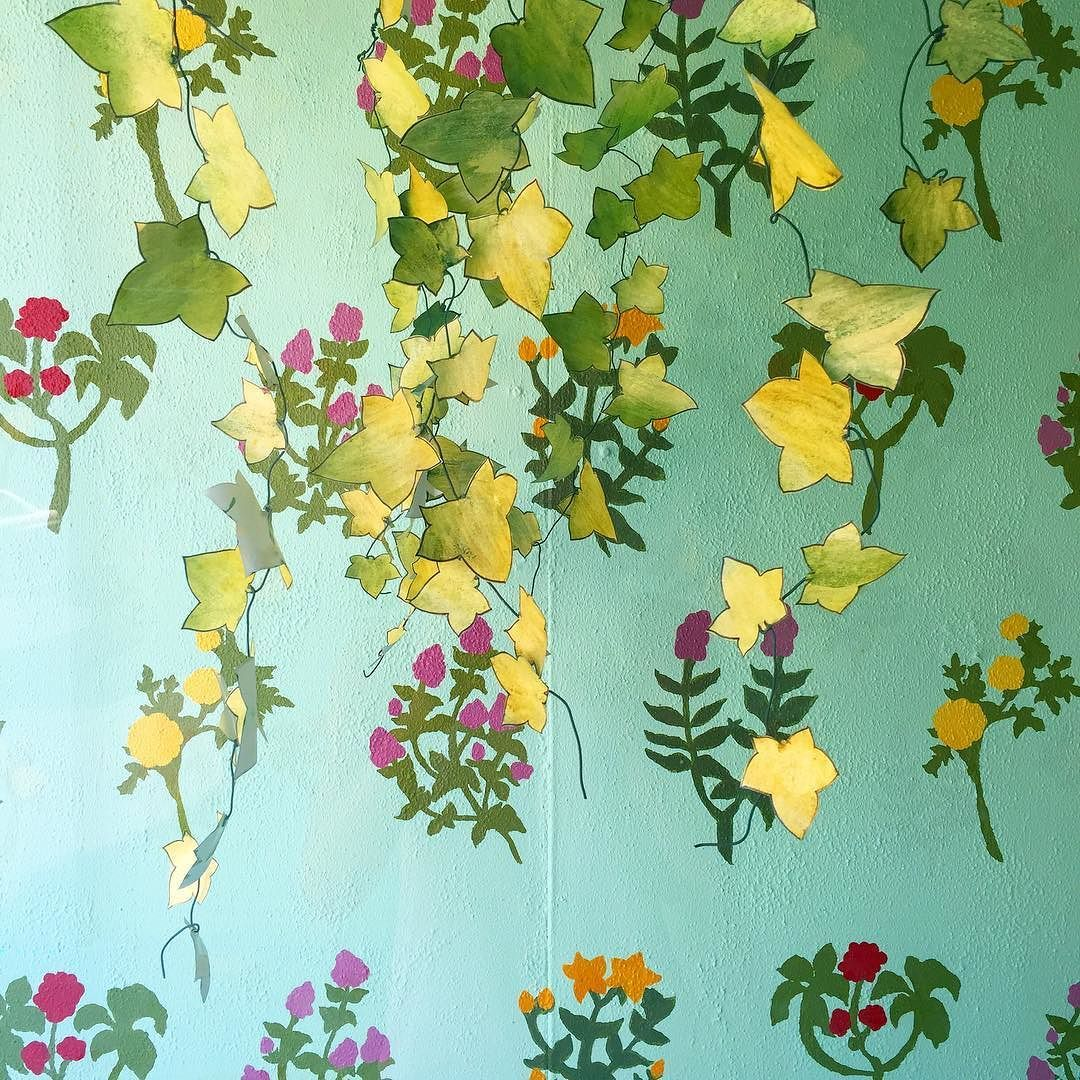 These paper leaves look fabulous on the painted floral background
