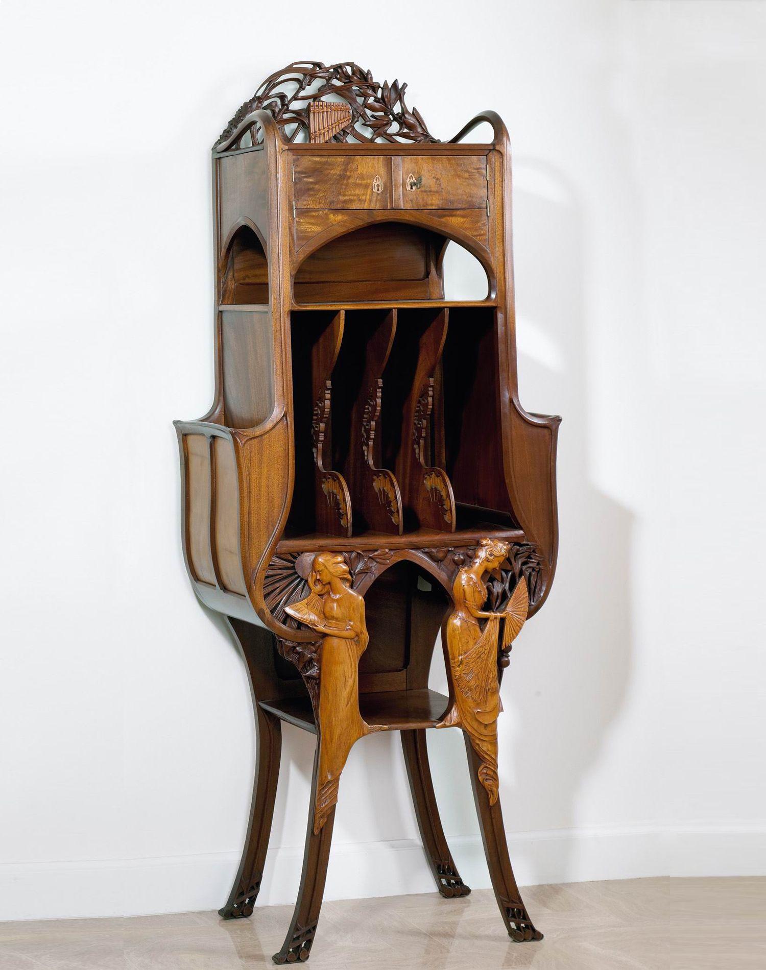 Rene Deflandre A Music Cabinet 1900 Deco