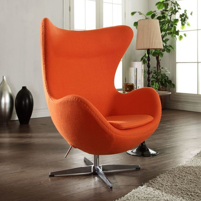 Orange Egg Chair Pier One Dining Chairs American Furniture Classics Modern Furnishings For The Home Reproduction Chairottoman