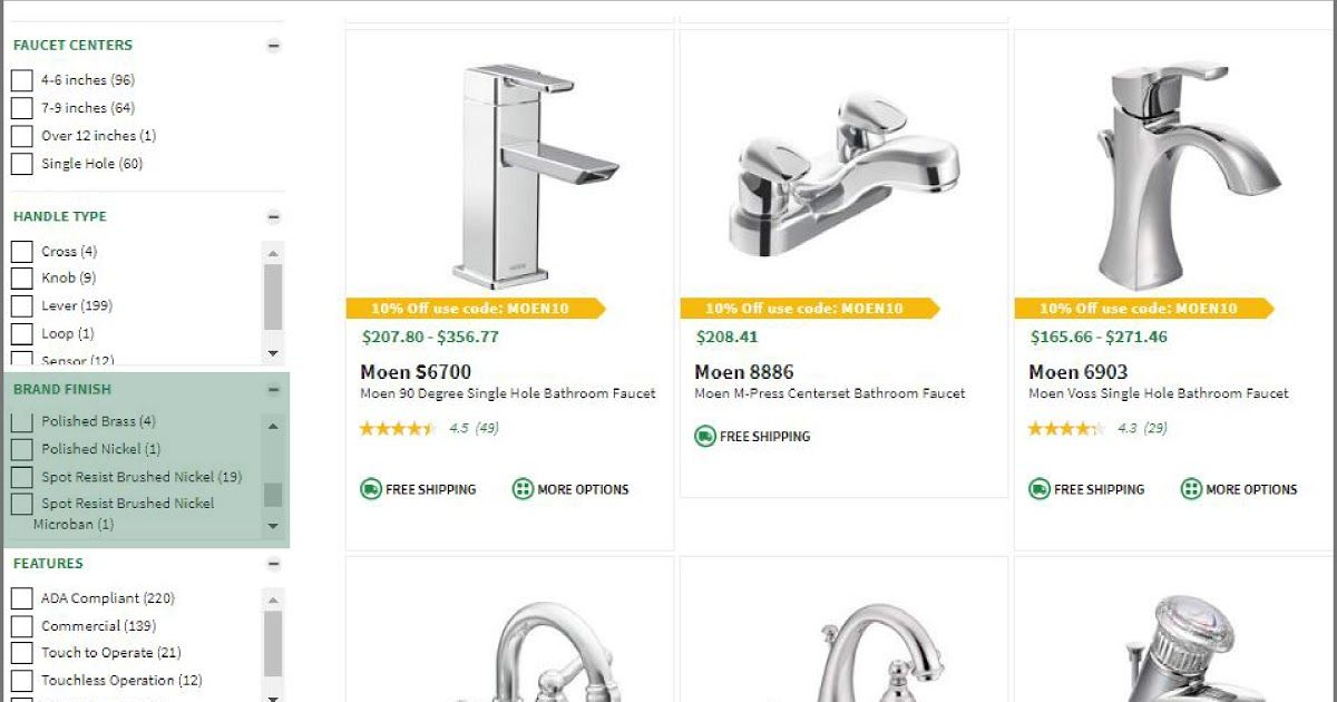 4 Inch Center Shower Faucet Di 2020