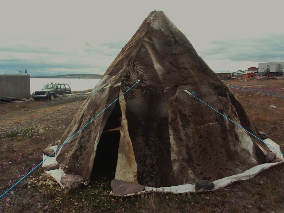 Caribou skin tent by May Haqpi photo by Martha Paaniukkaq & Caribou skin tent by May Haqpi photo by Martha Paaniukkaq | Inuit ...