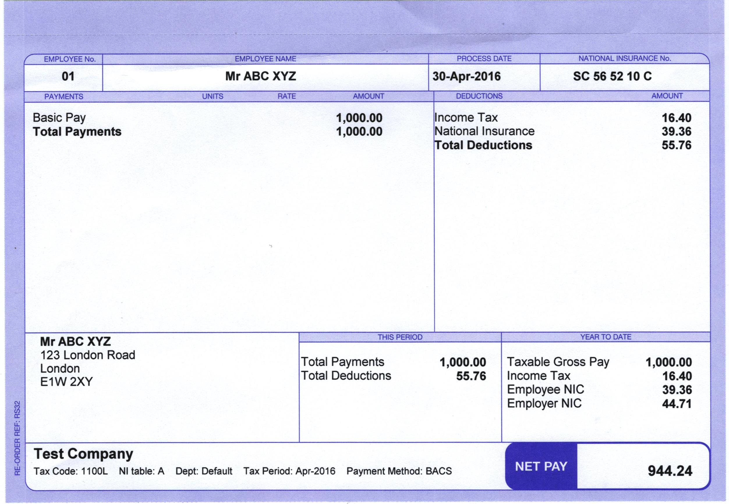 Do You Have Payslips if You Didn't have then Please