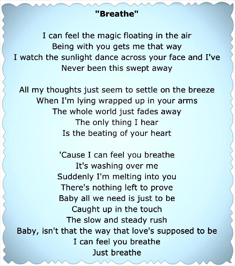 Lyric lyrics to all i need is a touch from you : Faith Hill