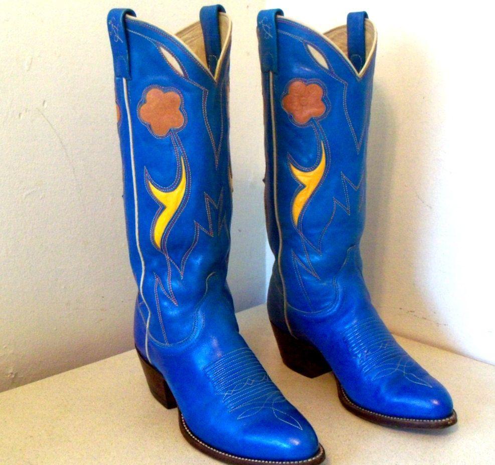 59a3812721f Fabulous Vintage Ralph Lauren Cowboy Boots by honeyblossomstudio ...