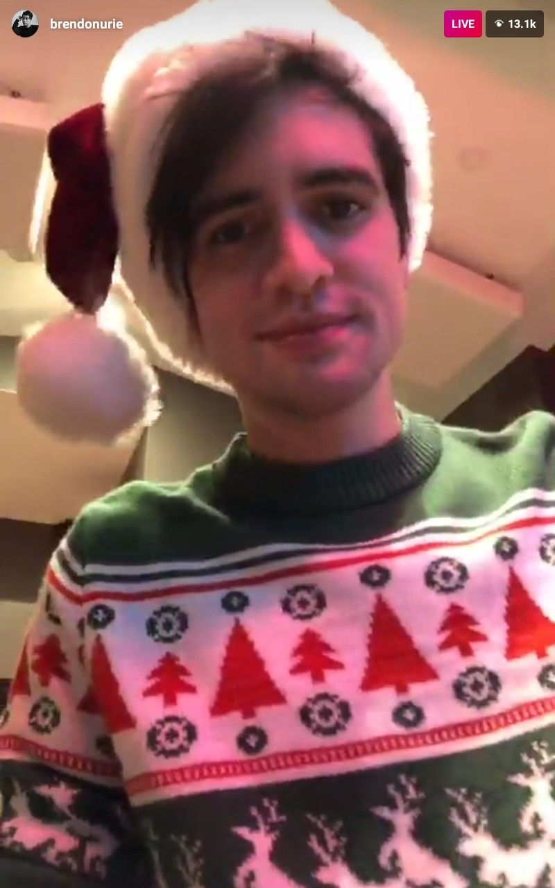Beebo in a Santa hat and Christmas sweater, he\'s so cute | Panic! At ...