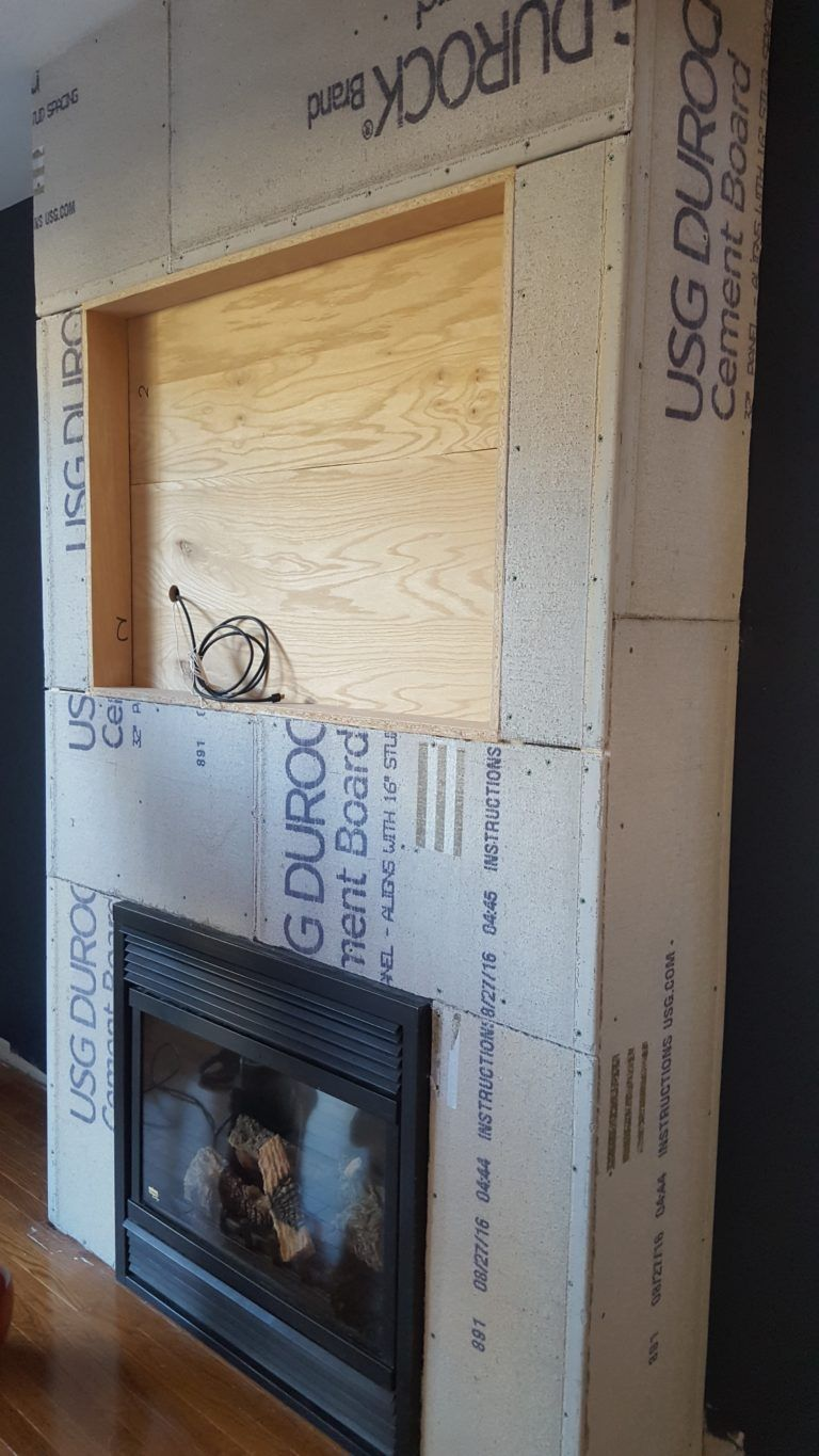 Building a floor to ceiling fireplace surround fireplace - Floor to ceiling brick fireplace makeover ...
