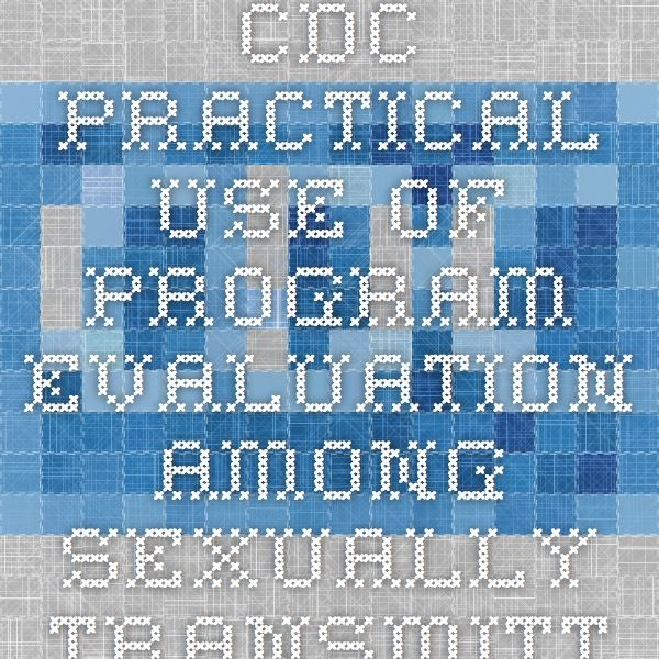 CDC Practical Use of Program Evaluation among Sexually