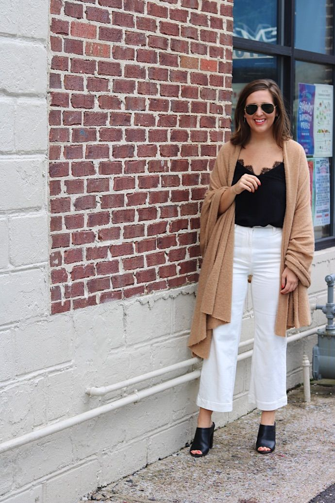 Taylor, Abby and Annie share how they style cropped wide-legged pants this fall!