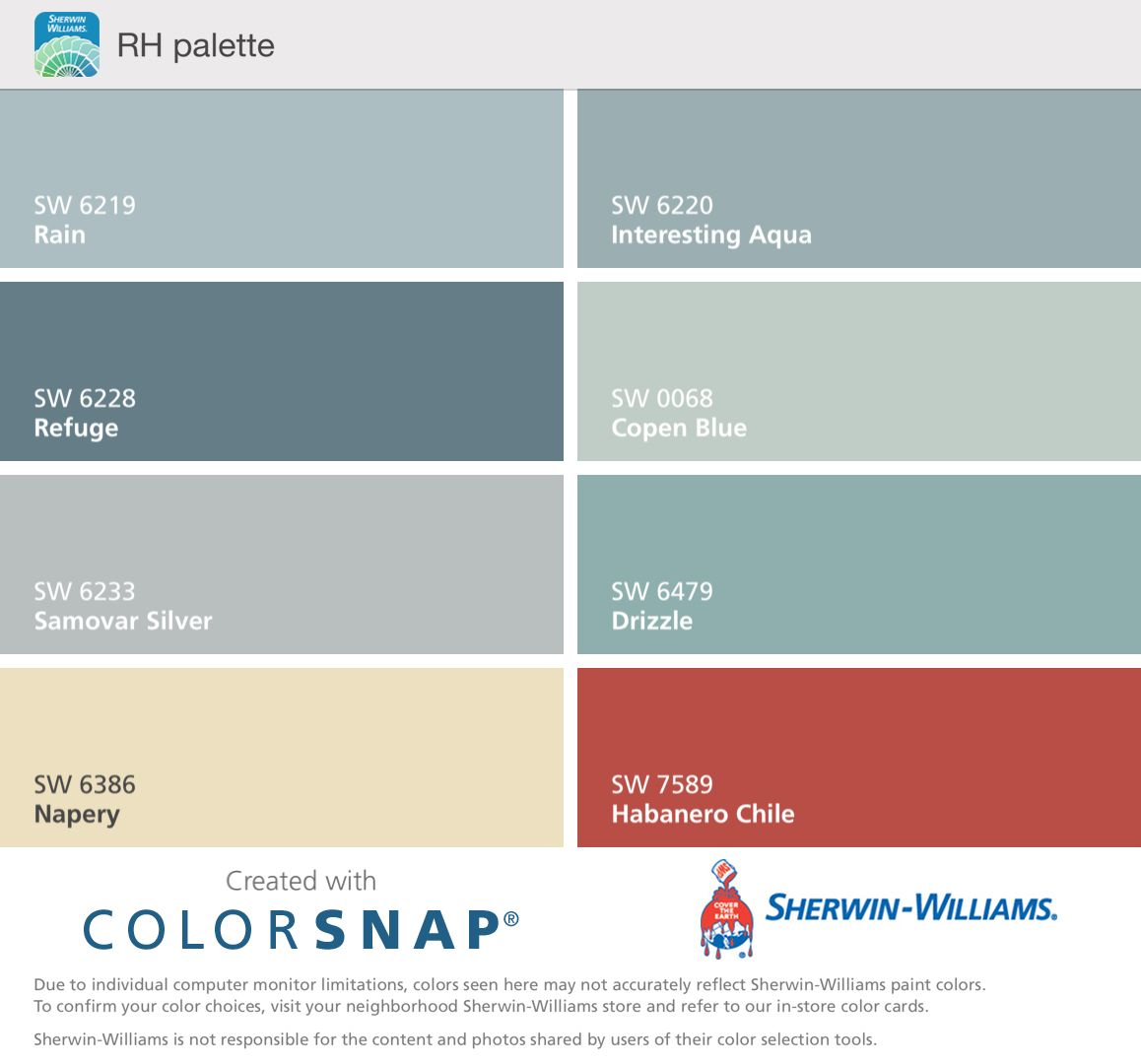 Sherwin Williams Color Palette Pin By Jenna B On River House Pinterest River House Basements