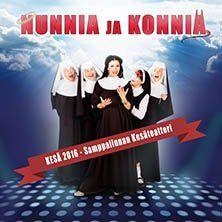 Nunnia ja Konnia -musikaalikomedian Pohjoismainen kantaesitys! Delores ja iloiset nunnat on lyömätön joukko, laittaessaan luostarin päiväjärjestystä uuteen uskoon. Loistava musikaali, joka naurattaa ja laulattaa pitkän aikaa. Musiikkina kuullaan soulia, discoa ja upeaa gospelia. Musikaalin sävellyksestä vastaa kahdeksankertainen Oscar-voittaja Alan Menken. Pääroolissa nähdään Maria Lund.