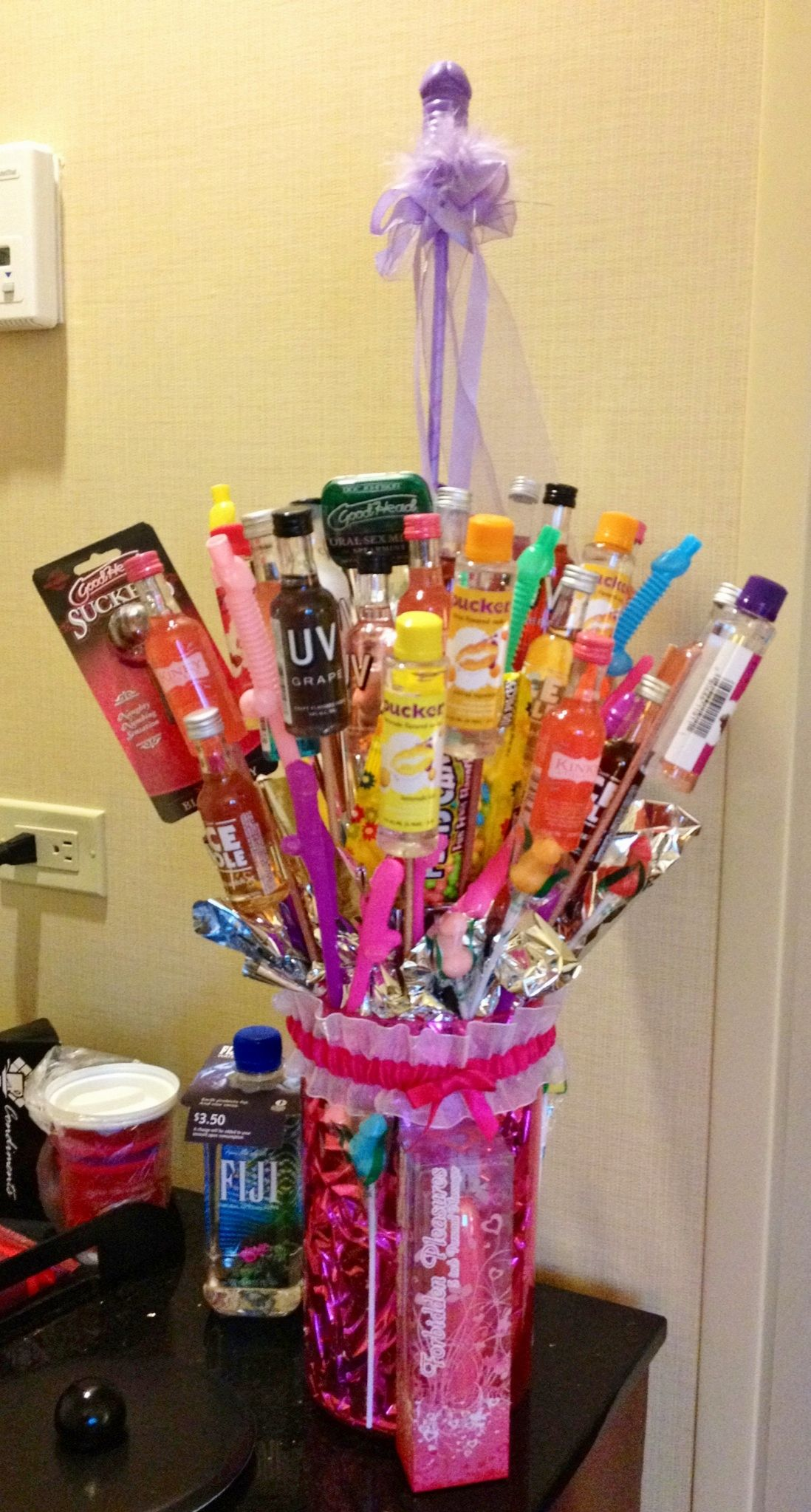 bachelorette bouquet of booze other naughty fun