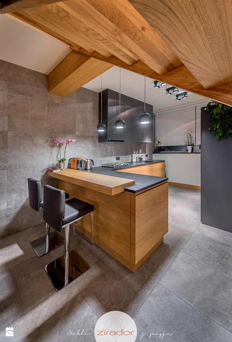 Meble do nowoczesnego domu Średnia kuchnia styl nowoczesny
