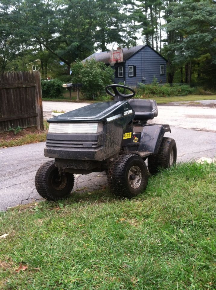 Custom Lawn Tractor Hood : My custom poulan pro mud mower craftsman hood off road