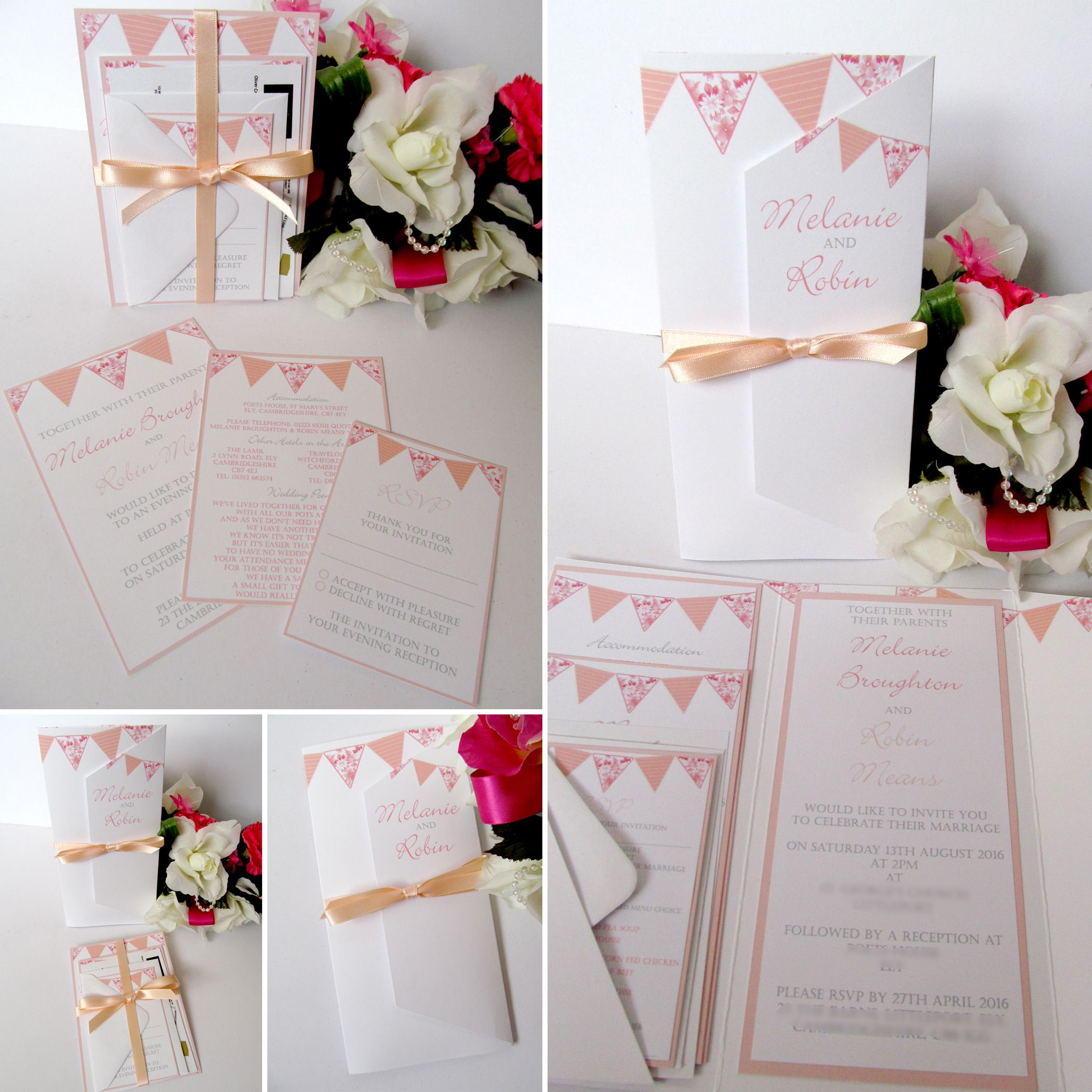 Wedding invitations and stationery from Yellow Blossom Designs Ltd ...