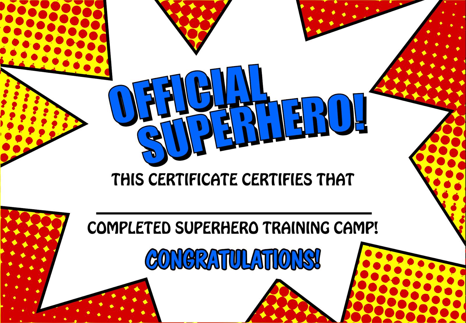 Free Printable Superhero Templates Plus Boom Pow Templates